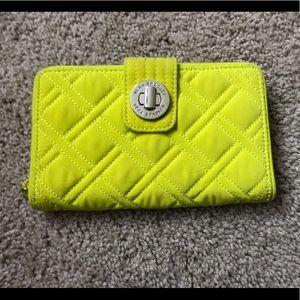 Vera Bradley Neon Yellow Wallet